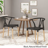 Victoria Modern Dining Chair with Beech Wood Legs (Set of 2)