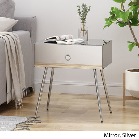 Georgia Modern Mirrored Accent Table