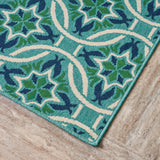 Alger Outdoor Geometric Area Rug