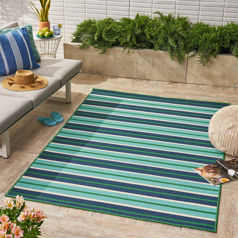 Celia Outdoor Geometric Area Rug