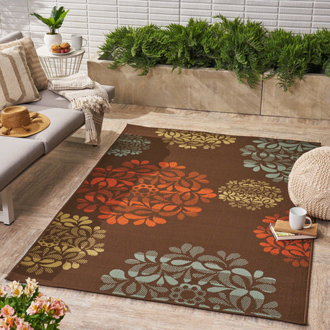 Sallie Outdoor Floral Area Rug