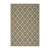 Duncan Outdoor Quatrefoil Gray and Ivory Rectangular Area Rug
