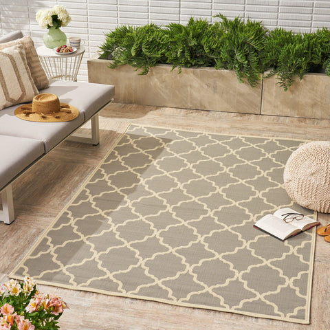 Duncan Outdoor Geometric Area Rug
