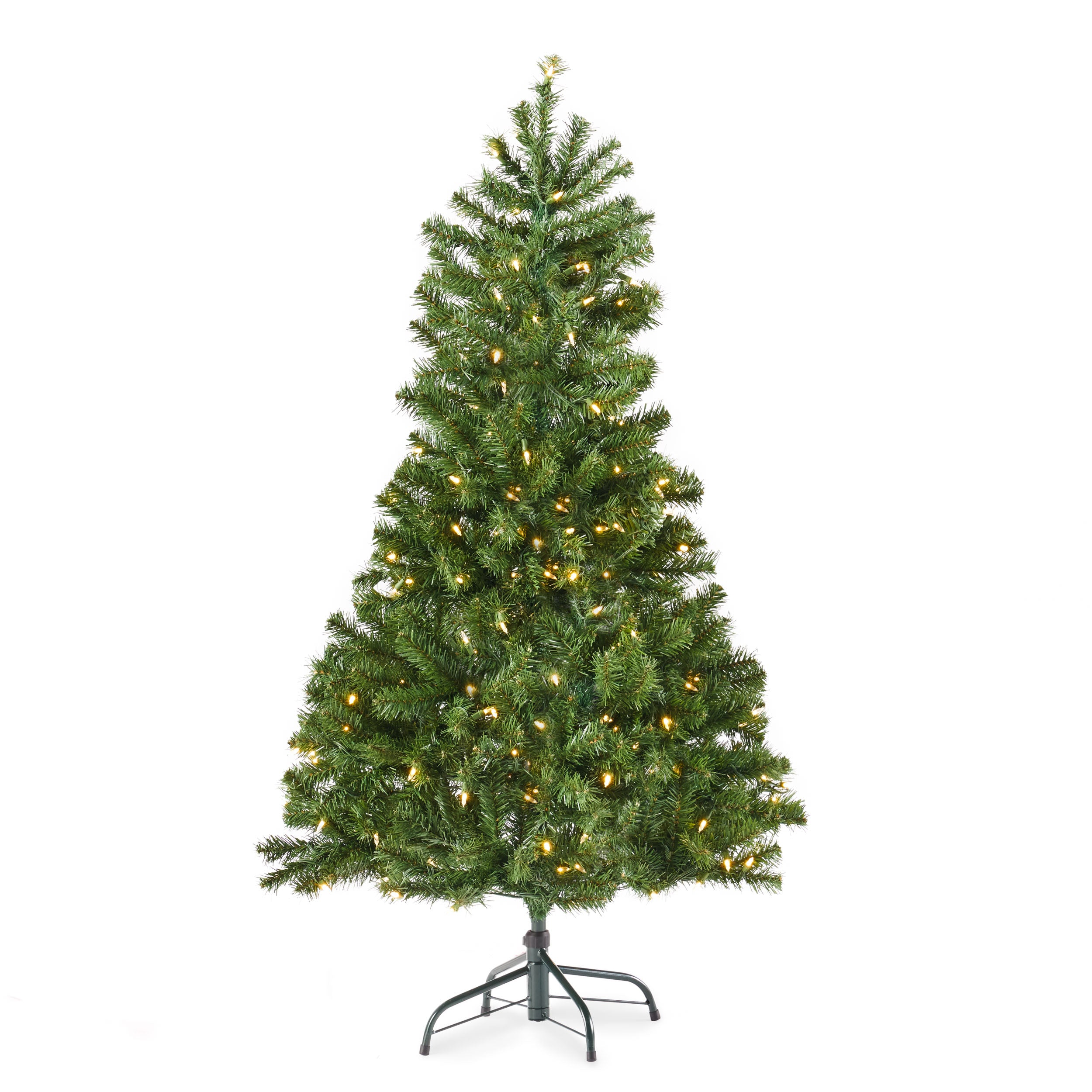45 foot Noble Fir Pre Lit Clear LED Hinged Artificial Christmas Tree