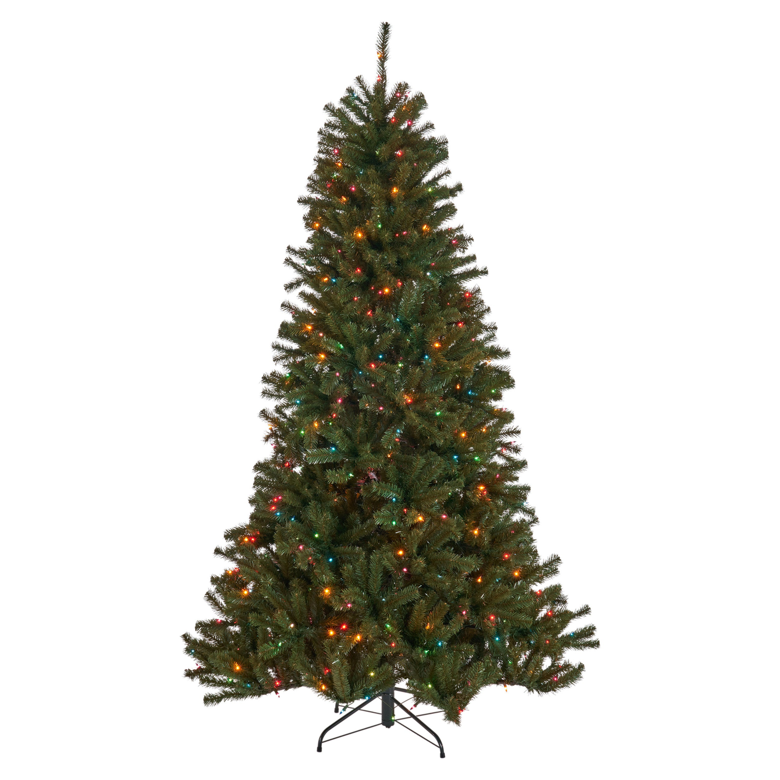 45 foot Noble Fir Hinged Artificial Christmas Tree Clear Light