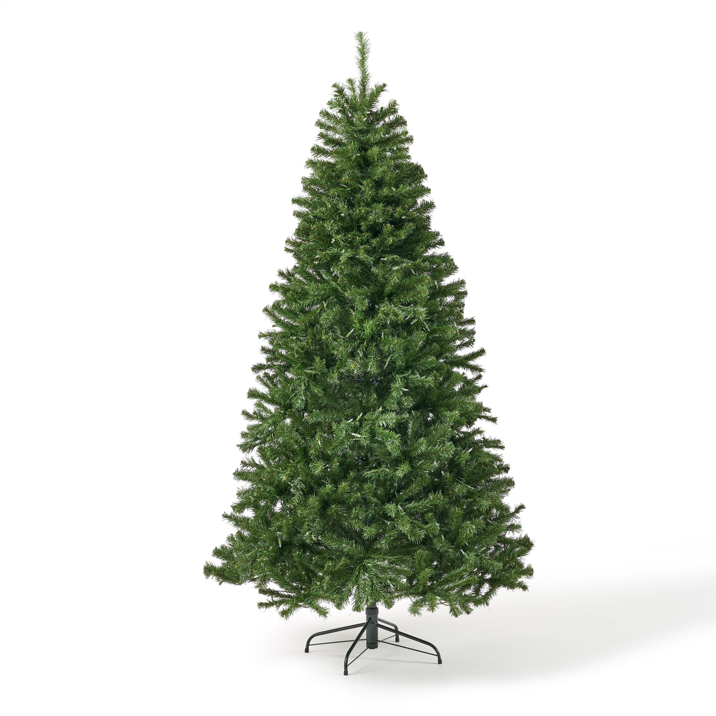 7 foot Noble Fir Pre Lit Clear LED Hinged Artificial Christmas Tree