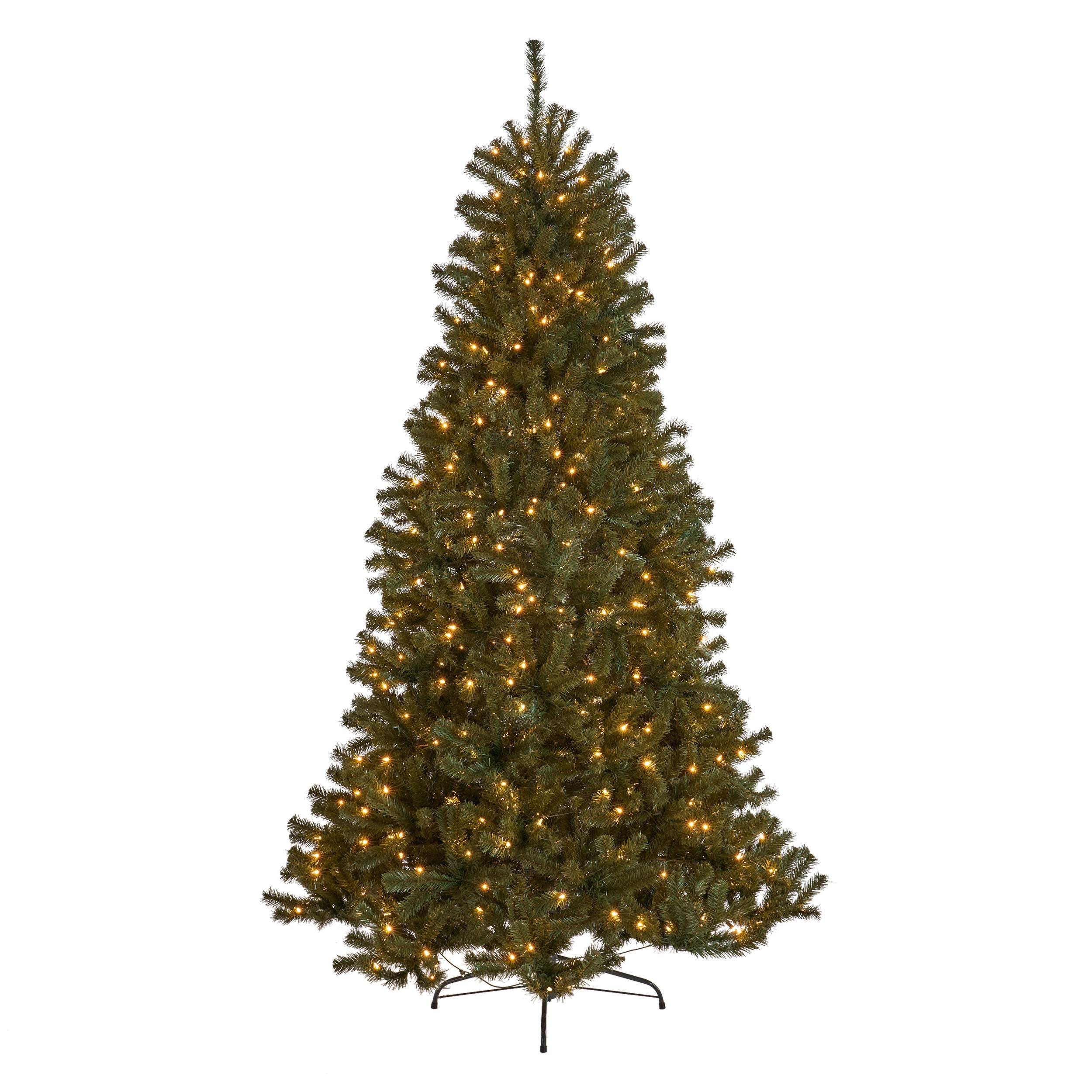 75 foot Noble Fir Hinged Artificial Christmas Tree Clear Light