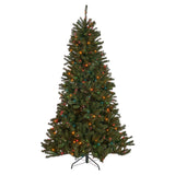 9-foot Noble Fir Pre-Lit or Unlit Hinged Artificial Christmas Tree