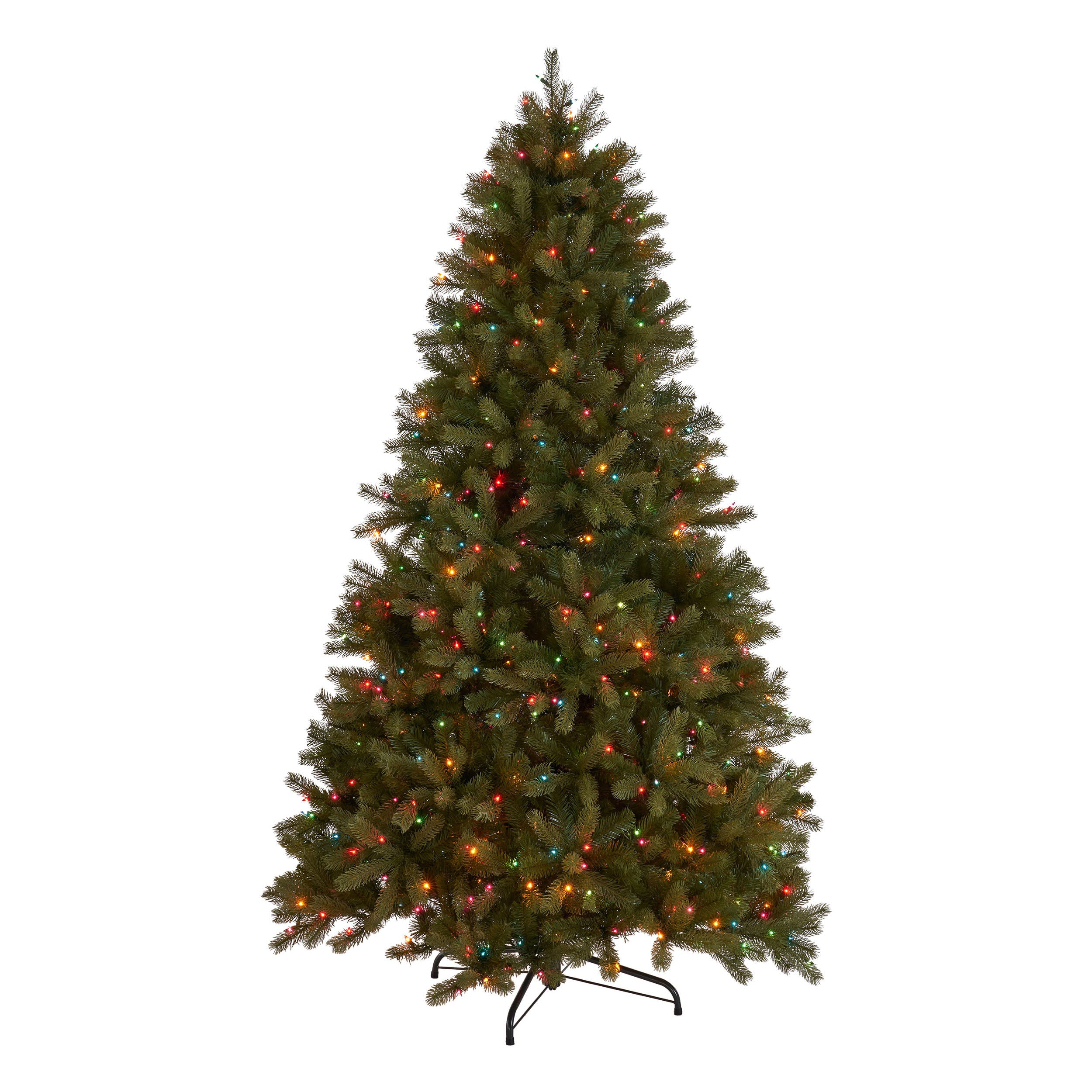 45 foot Mixed Spruce Hinged Artificial Christmas Tree Multicolor Lights