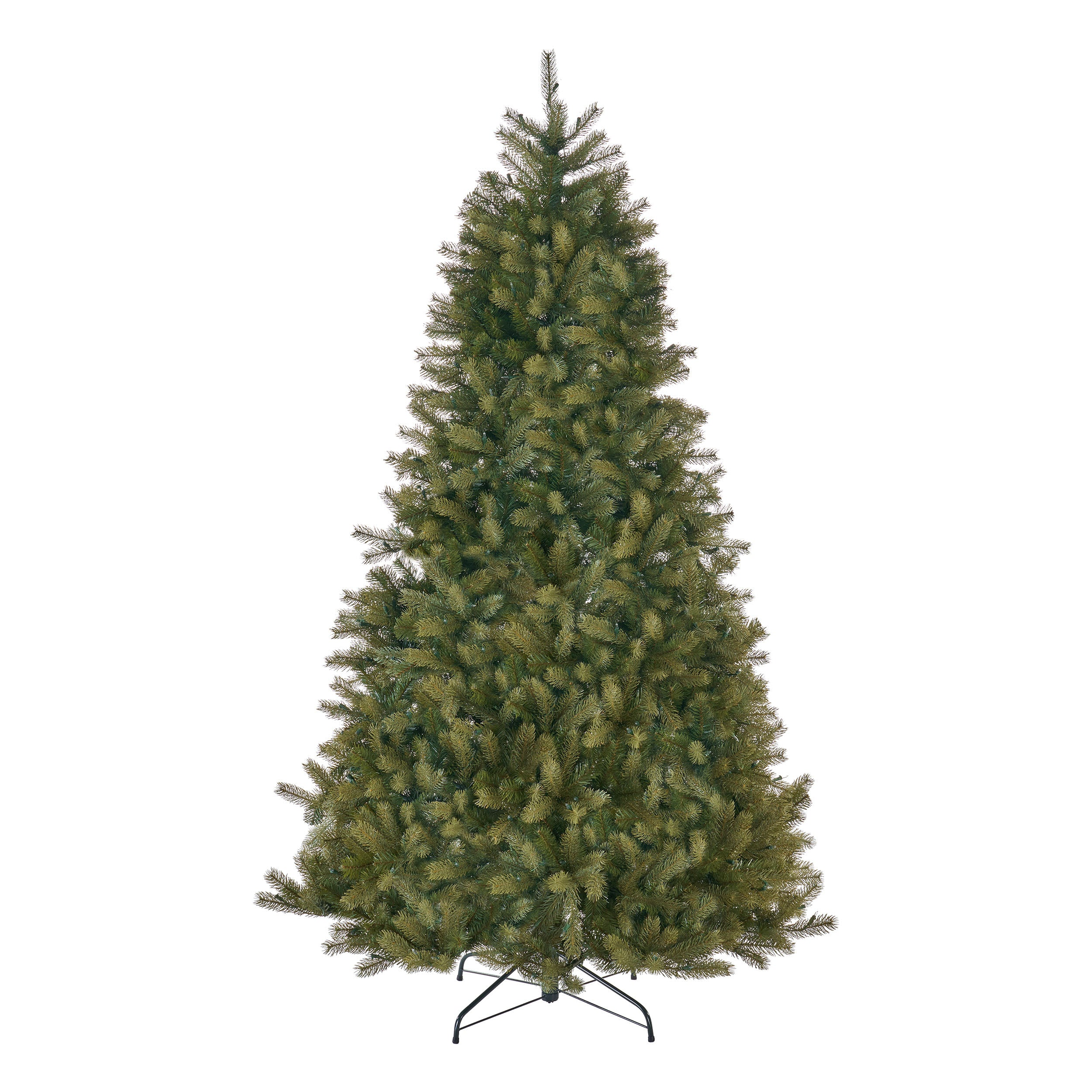 7 Foot Mixed Spruce Hinged Artificial Christmas Tree Clear Lights