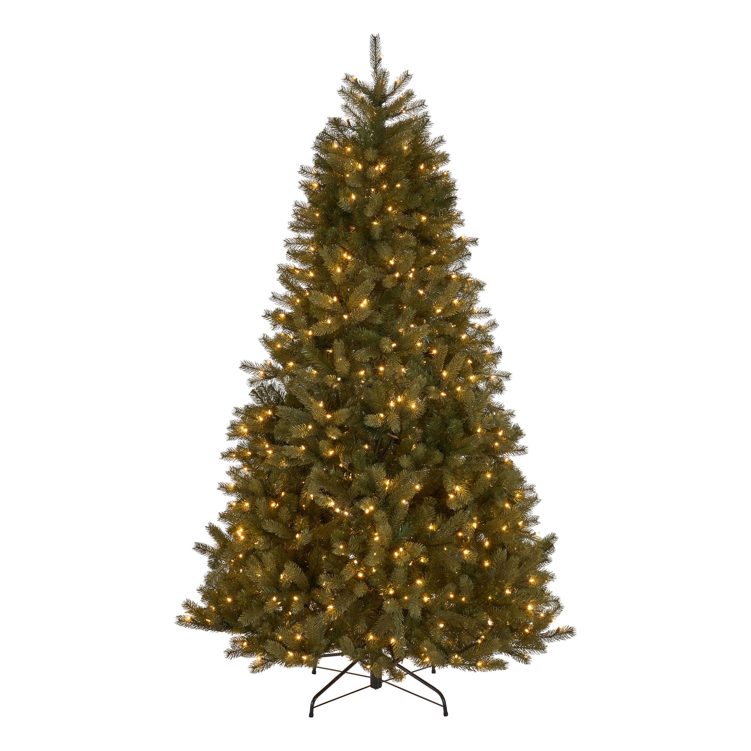 9 foot Mixed Spruce Hinged Artificial Christmas Tree Clear Lights