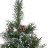 4.5-foot Cashmere Pine Pre-Lit or Unlit Artificial Christmas Tree with Snowy Branches and Pinecones