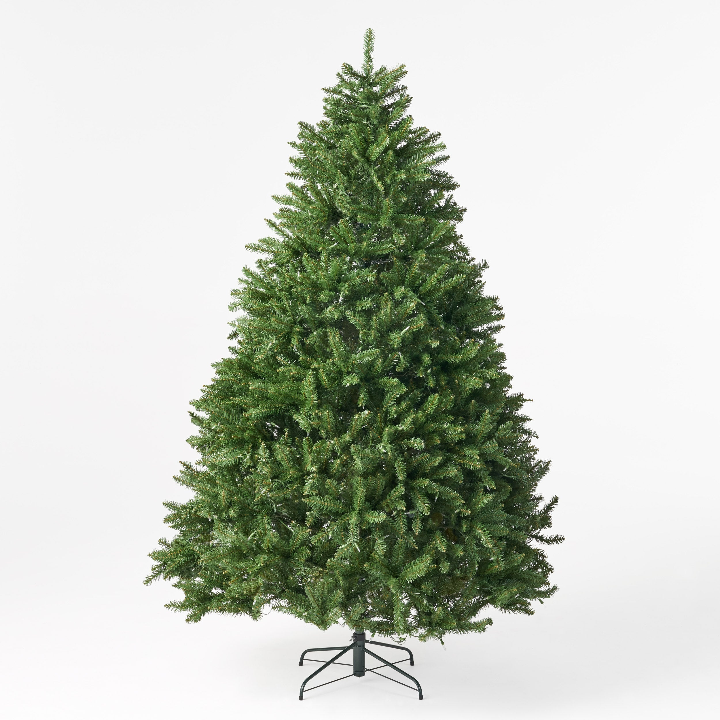 75 foot Norway Spruce Pre Lit Clear LED Hinged Artificial Christmas Tree Default Title