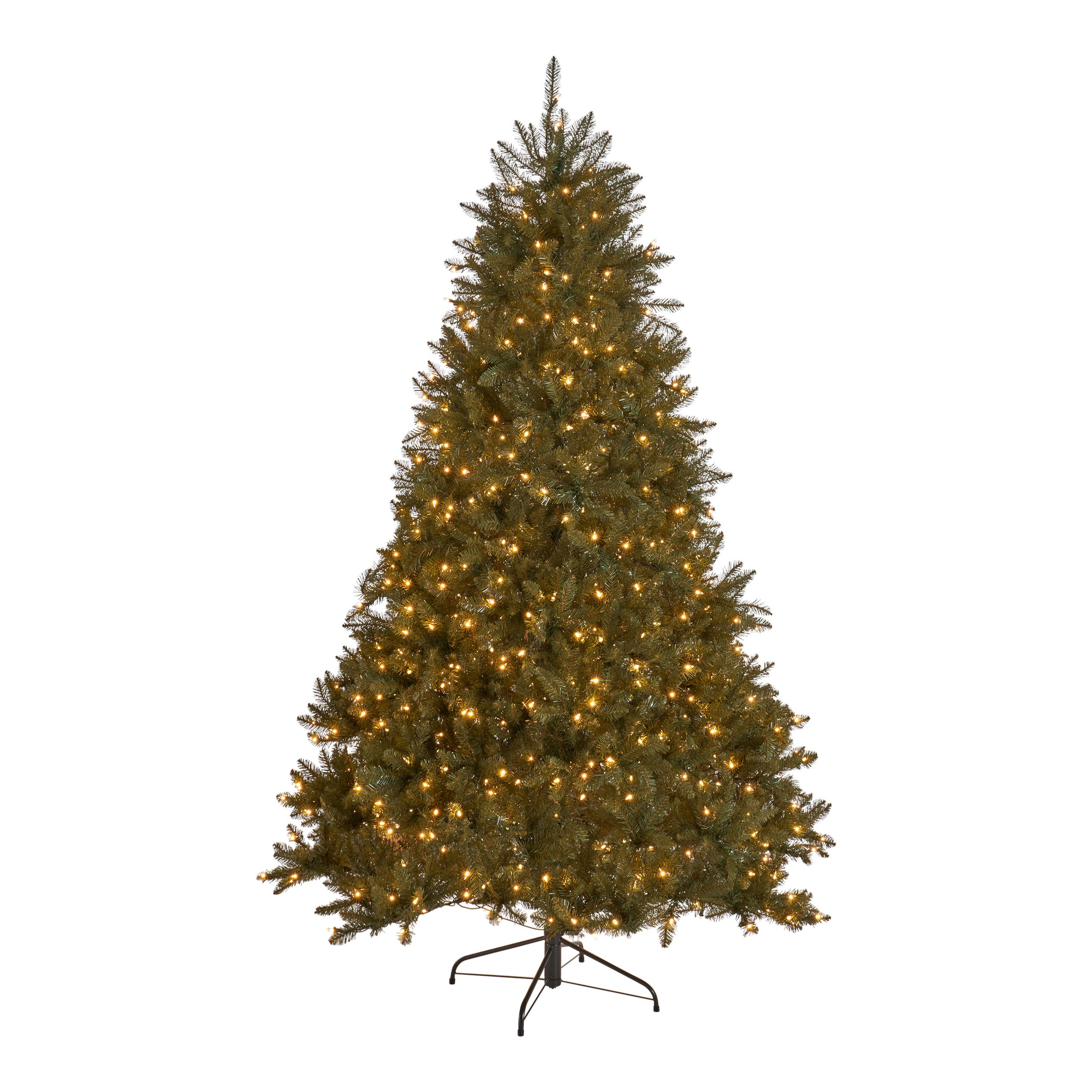 45 foot Fraser Fir Hinged Artificial Christmas Tree Clear Light