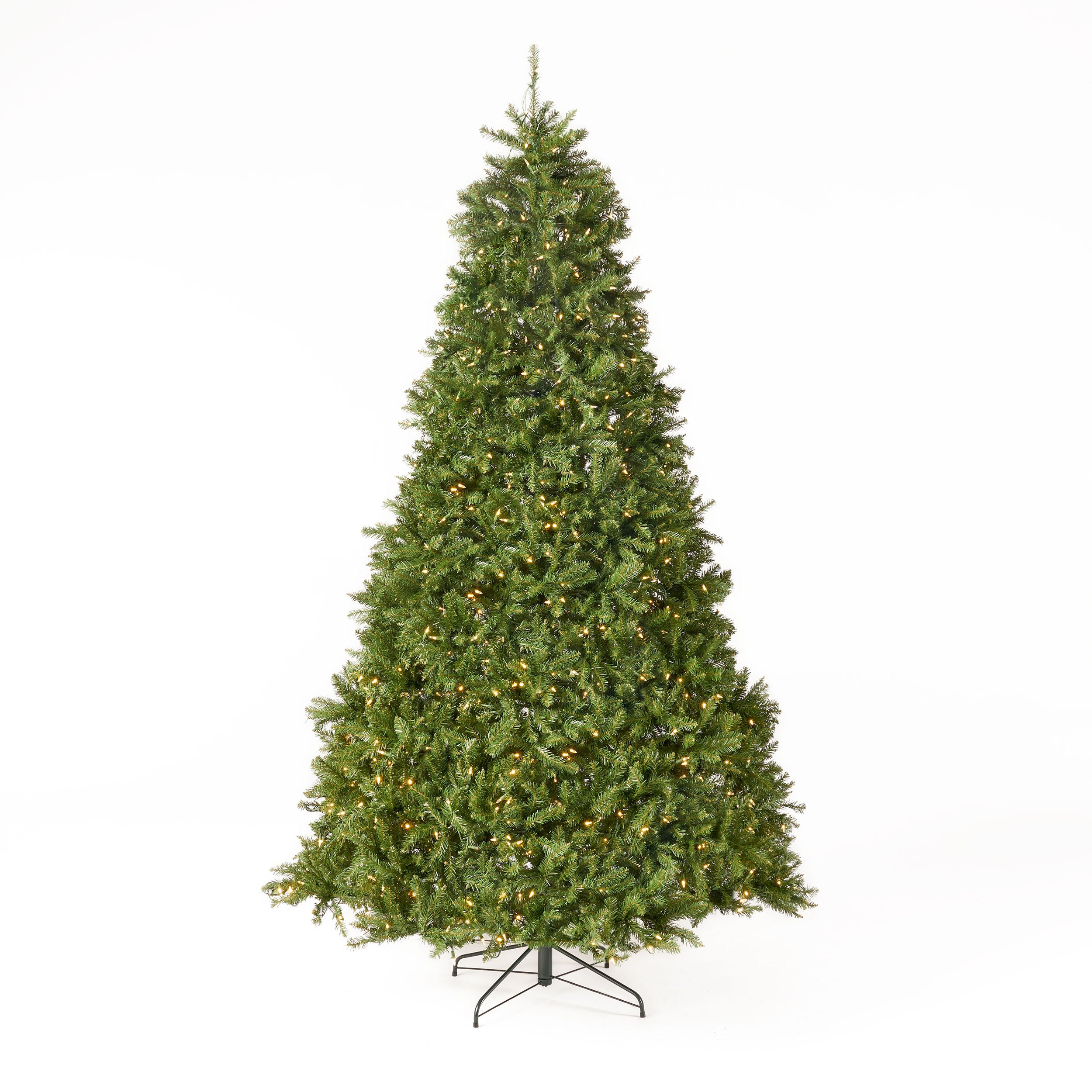 9 foot Fraser Fir Pre Lit Clear LED Hinged Artificial Christmas Tree
