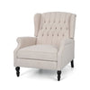 Salome Oversized Tufted Wingback Fabric Push Back Recliner