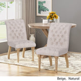 Terrance Tufted Fabric Dining Chair (Set of 2)