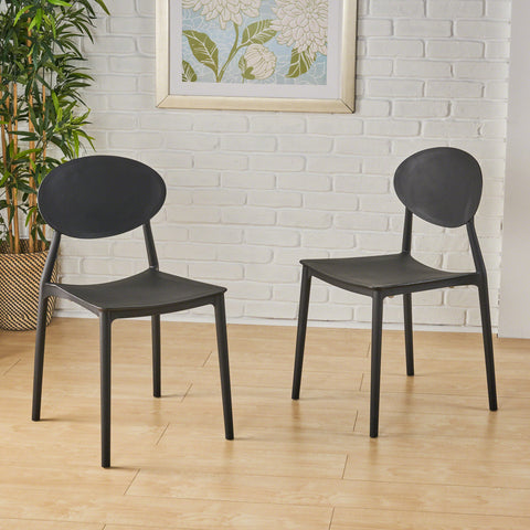Ali Indoor Plastic Chair (Set of 2)
