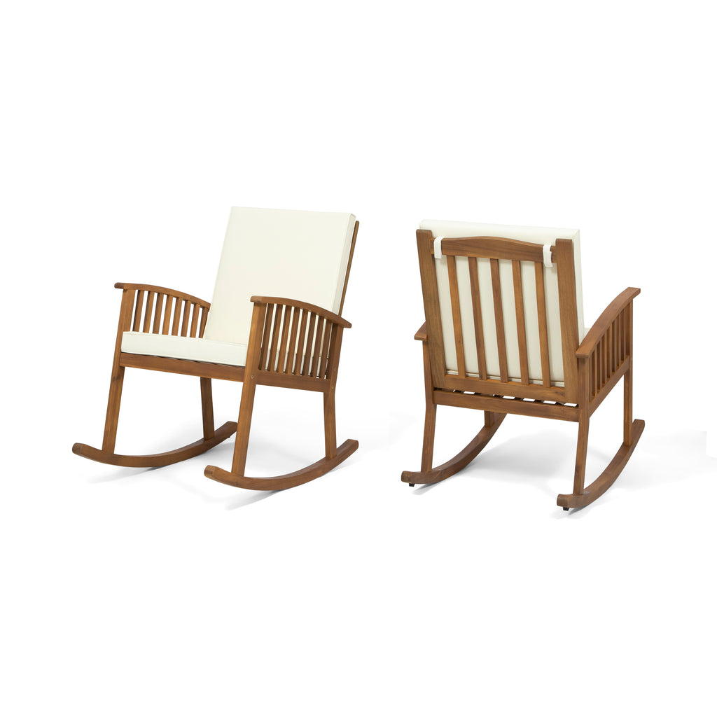 Amazing Audrey Outdoor Acacia Wood Rocking Chairs Set Of 2 Download Free Architecture Designs Rallybritishbridgeorg