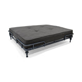 Elvis Industrial Pet Bed, Dark Gray and Brushed Gray