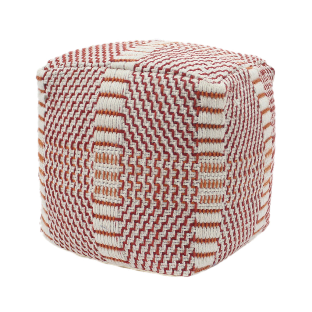 "Naydelin Indoor Boho Water Resistant 16"" Square Ottoman Pouf"