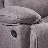 Antoinette Contemporary Pillow-Tufted Upholstered Fabric Glider Recliner