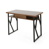 Janet Modern Faux Wood Writing Desk