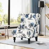 Alonso High-Back Fabric Club Chair, Black Checkerboard and Dark Charcoal