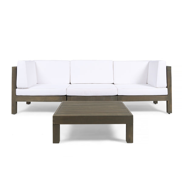 Great Deal Furniture Keith Outdoor Sectional Sofa Set With