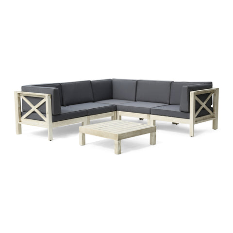 Keith 5-Seater Outdoor Sectional Sofa Set with Coffee Table