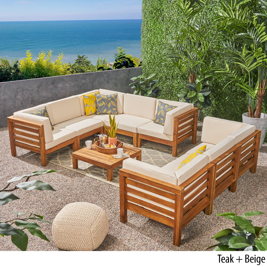 Ravello Outdoor Sectional Sofa Set with Coffee Table