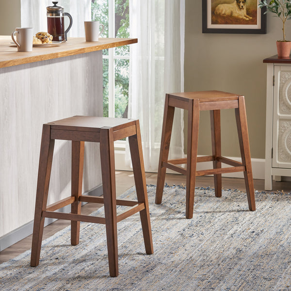 Wondrous Elaina 26 Wooden Counter Stool Set Of 2 Gmtry Best Dining Table And Chair Ideas Images Gmtryco