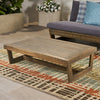 Hannah Outdoor Acacia Wood Coffee Table