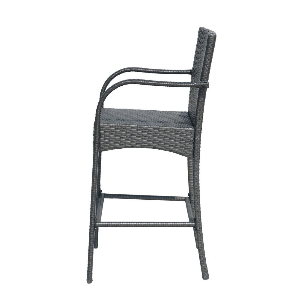 Iremide Outdoor Wicker Barstool Chair (Set of 2)