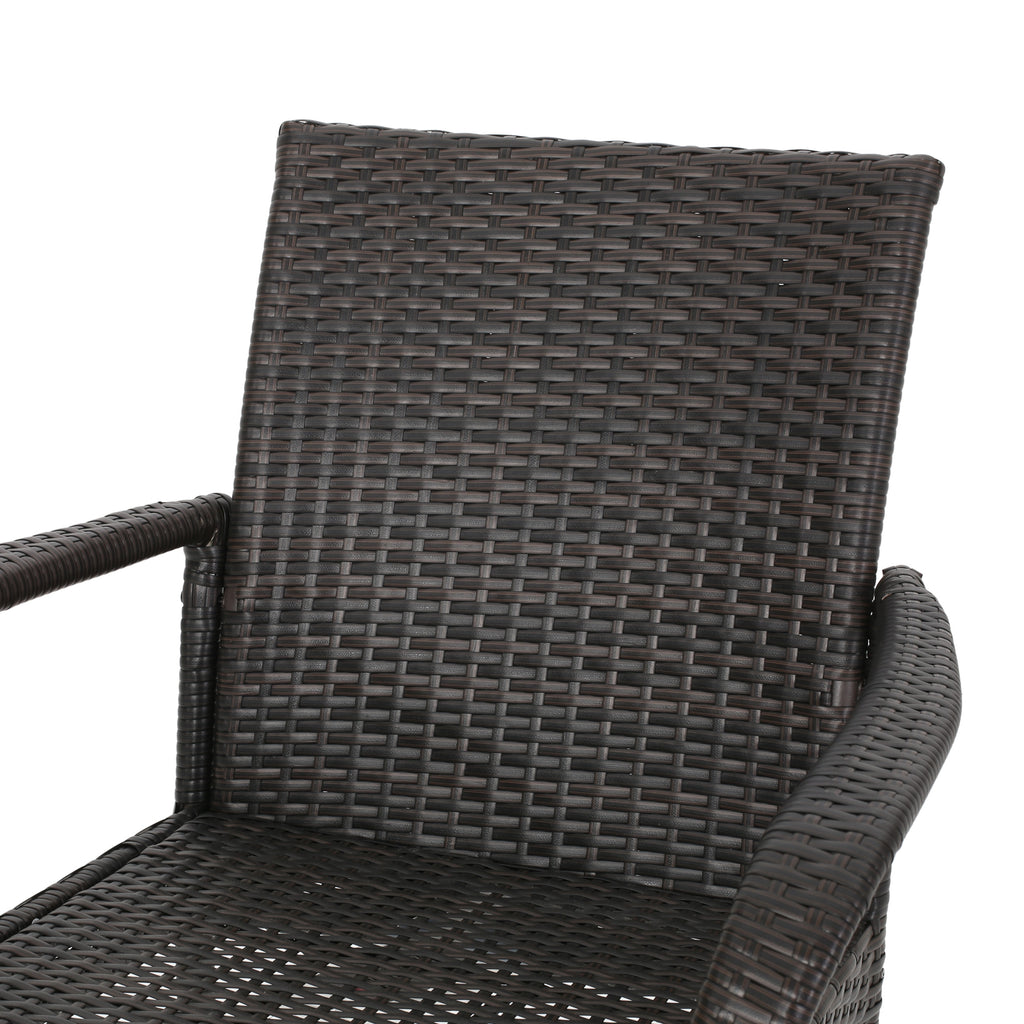 Havik Outdoor Contemporary 6 Seater Wicker Dining Set