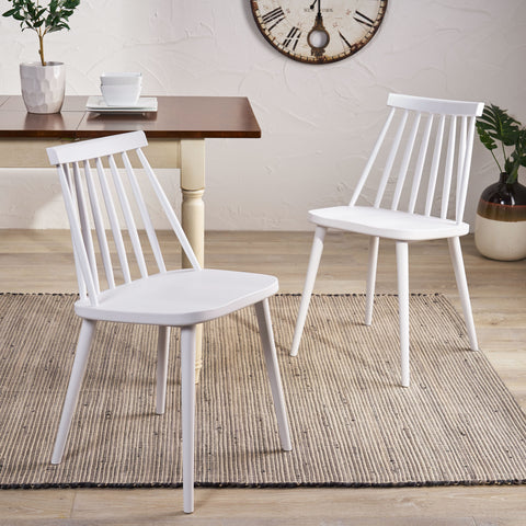 Phoebe Hume Farmhouse Spindle-Back Dining Chair (Set of 2)