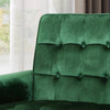 Betsy Velvet Armchair, Modern Glam, Button-Tufted, Waffle Stitching