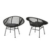 Aleah Outdoor Woven Faux Rattan Chairs with Cushions (Set of 2)