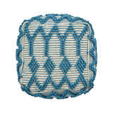 Gracious Boho Wool and Cotton Ottoman Pouf