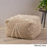 Khalila Boho Wool and Cotton Ottoman Pouf