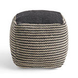 Allyssa Boho Wool and Cotton Ottoman Pouf