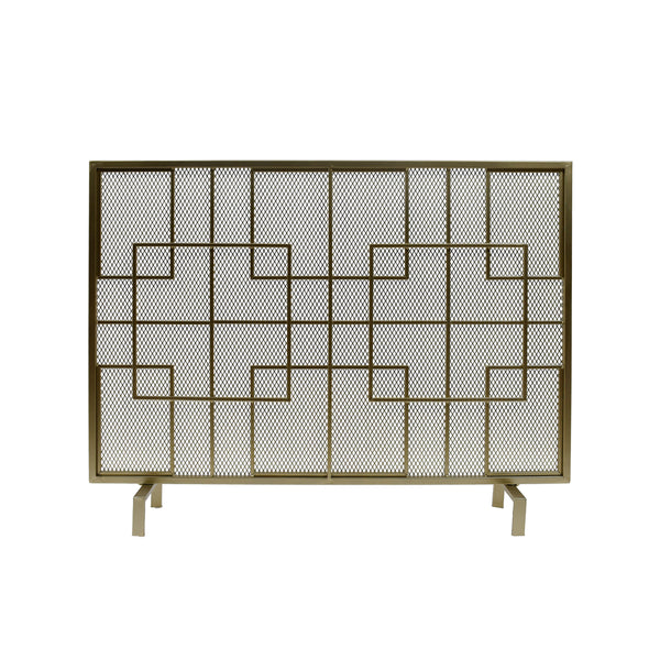 Dorothy Modern Single PanelIron Firescreen