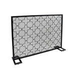Uriah Modern Single PanelIron Firescreen