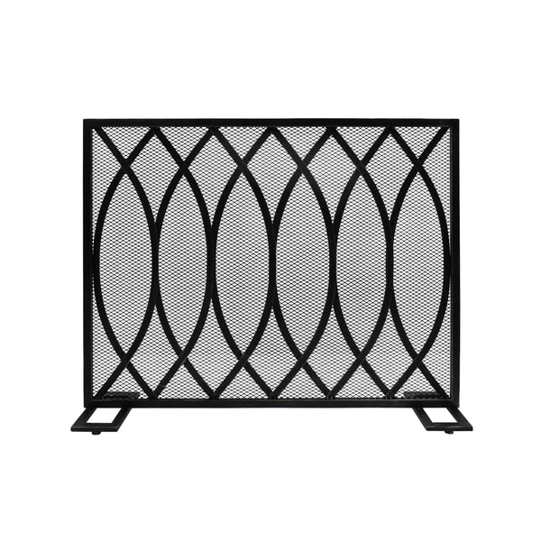 Junior Modern Single PanelIron Firescreen