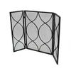 Laylah Modern Three Panel Iron Firescreen