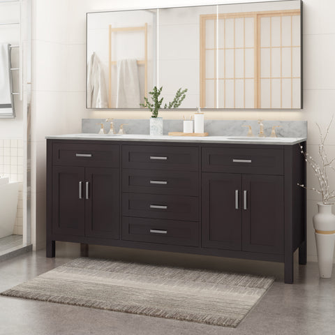 "Greeley Contemporary 72"" Wood Bathroom Vanity (Counter Top Not Included)"