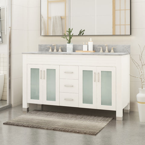 "Holdame Contemporary 60"" Wood Bathroom Vanity (Counter Top Not Included)"