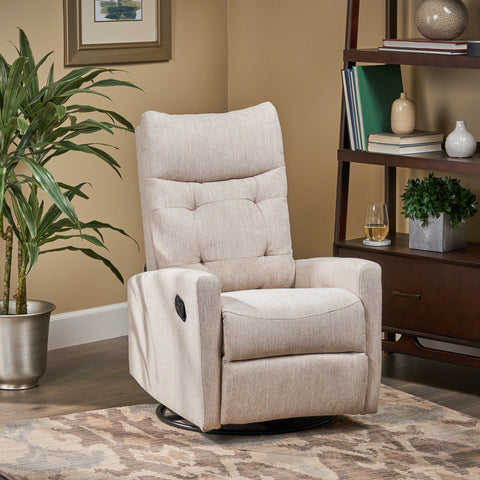 Ishtar Contemporary Glider Swivel Push Back Nursery Recliner