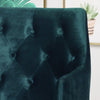 Fern Modern Tufted Glam Accent Chair with Velvet Cushions and U-Shaped Base