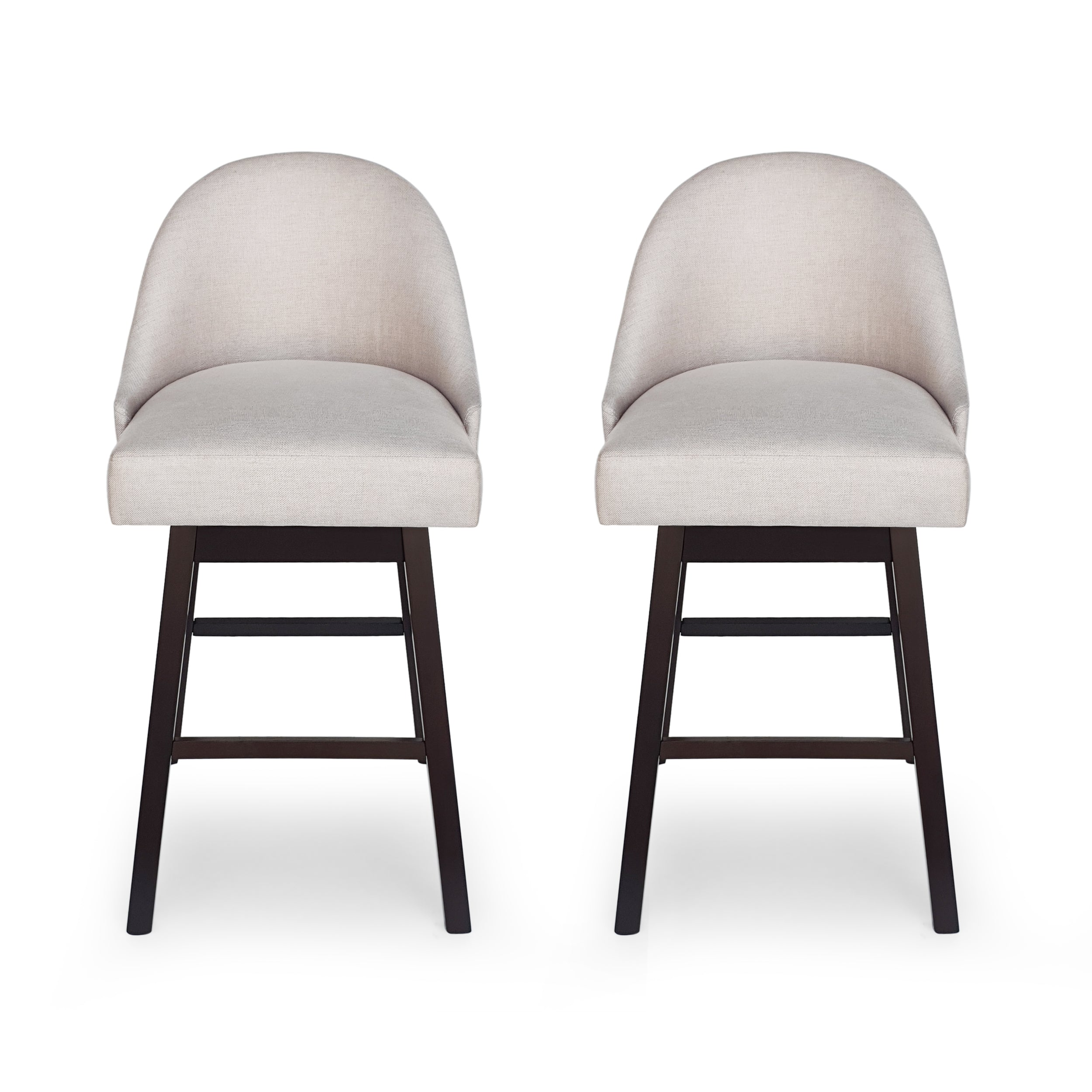 Andriel Modern Upholstered Swivel Bar Stool